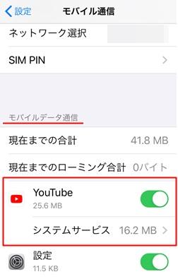 YouTube朗読動画の通信量測定方法